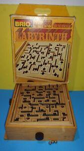Vtg Brio Sweden Labyrinth Wooden Tilting Maze Game w/ Original Box Swedish 35310