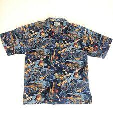 Cheeseburger Restaurants Brand Men's 2XL Shirt Aloha Hawaiian Button Down