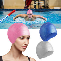 3D Silicone Swimming Cap Long Hair Swim Pool Hat Ears Cover For Adult Men Women