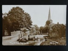 Kent EYNSFORD Bridge & Ford shows CATTLE IN RIVER & ON STREET c1921 RP by R. Gee