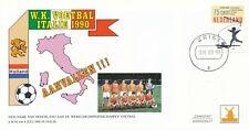 Philato gelegenheidsenvelop - WK Voetbal 1990 - Blanco / Open klep