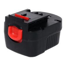 Tank 12V Black and Decker Battery for Firestorm FSB12, BD1204L, BD-1204L.