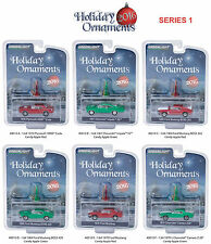 GREENLIGHT HOLIDAY ORNAMENTS SERIES 1, SET OF 6 CARS 1/64 BY GREENLIGHT 40010