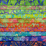 LOT OF 10 BY THE COLOR FAT QUARTERS BRIGHT BLOOMS BATIK LUNN FABRICS FAT QUARTER