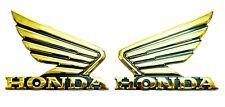 Autocollants réservoir moto ailes chrome or Honda stickers décalque déco x 2