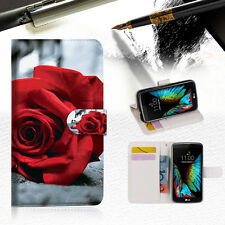 Blooming Rose Phone Wallet Case Cover For ZTE AXON mini --A011