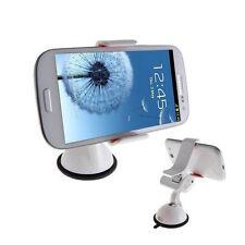 Supporto auto ventosa parabrezza pinze per Samsung Galaxy S3 NEO i9301 Bianco