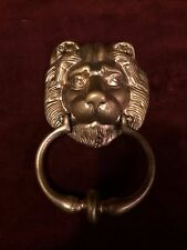 Vintage Brass DOOR KNOCKER Lion's Head