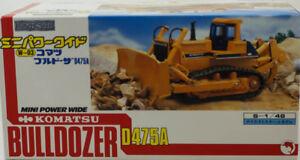 Shinsei Komatsu Mini Power Wide Dozer with Ripper D475A 1:48 Scale NIB