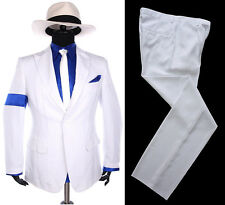 Classic MJ Michael Jackson Smooth Criminal Stripe Suit Blazer Full Set