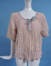 ANTIQUE 1930'S PEACH HAND KNIT FANCY SWEATER FOR DRESS
