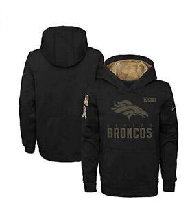 Denver Broncos Nike Youth Boys 2020 Salute to Service Pullover Hoody Sweatshirt