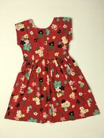 HANNA ANDERSSON Girls Size 140 10 Cotton Red Floral Dress