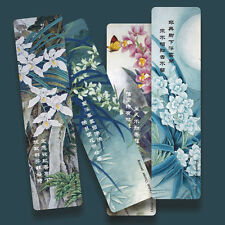 Paper Bookmarks orchids orchis Cymbidium spp 4 pieces book markers