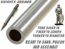 One Ready To Finish Raw Aluminum Knights Armor Ballpoint Pen Body / Blank #011