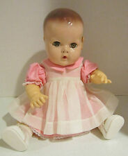 "Vint 15"" Effanbee DY-DEE-BABY compo & rubber -molded hair - brown eyes - VGC"