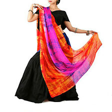 Tie-dyed belly dancing real silk Veils Nice Silk Hand-Scarf for women