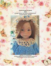 """NEW #146 Crochet  Pattern for Effner Little Darling 13"""""""