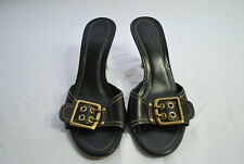 Coach Black Buckle Sandals Women's Sz 7