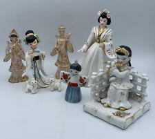 Lot 6 Vintage 1950s Japanese Porcelain/ceramic Figures ~ Lefton, Artkaul & Napco