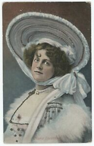 Stage Actress Gaiety Girl Marie Studholme Vintage Glitter Accent Postcard