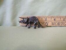 Pewter Dinosaur Triceratops Figurine Jurrasic!