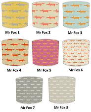 Lampshade Ideal To Match Mr Fox Wallpaper Mr Fox Duvet Mr Fox Cushion & Curtains