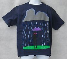 Minecraft Boys Bad Weather T-Shirt Navy Size 4 Enderman Free Shipping
