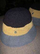 NWT SAMPLE STUSSY X KANGOL BERMUDA CASUAL Bucket Hat Sz L BLACK GREEN GOLD 2013