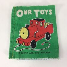 Deans Rag Book Our Toys Train Baby Safe Made in Great Britain Cloth VTG Washable