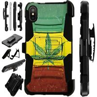 Lux-Guard For iPhone 6/7/8 PLUS/X/XR/XS Max Phone Case Cover WEED FLAG NATION