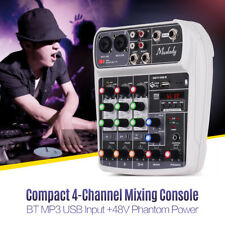 4 Channel Mini Audio Mixer With USB DJ Sound Mixing Console For Karaoke KTV Z3V7