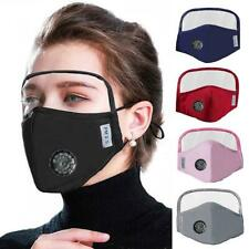 Dustproof Outdoor Face Protective Mouth Cover with Eyes Shield + 2 Filters