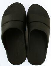 OOFOS Unisex Slip On Open Toe Black Slide Sandel Shoes M8-W10 EU41