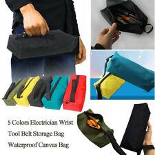 Tool Kit Bag Zipper Canvas Storage Instrument Case Pouch Black Orange Fuctional
