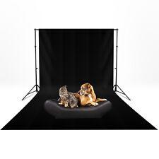 3m x 6m Photography Light Studio Black Muslin Cotton Background Backdrop Screen