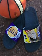 NIKE SLIPPERS KING LEBRON JAMES LOS ANGELES LAKERS