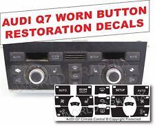 Audi AC Heater Blower Button Repair Overlays Audi Q7 Climate Control Decals