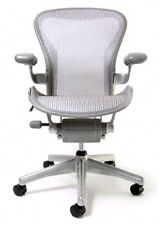 Aeron Chair by Herman Miller - Basic - Titanium Frame - Zinc Classic Size C