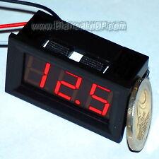 Voltmetro digitale 0-100V LED ROSSO [tensione tester pannello auto moto camper