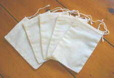 Cotton Muslin Tea Bags Unbleached w/ Drawstring 5 PACK Crafts Soaps