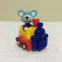Mouse in Train HANS Wind-Up Figure Toy