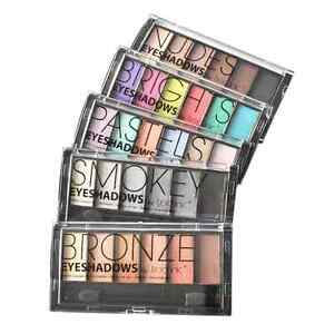 Technic 6 Mega Colour Eyeshadow Palette Smokey Sultry Nudes Brights Bronze Matte