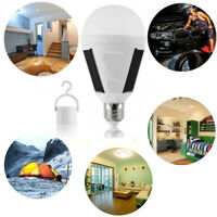 Bright LED Solar Light Bulb 7W E27 Tent Camping Fishing Solar Lamp Rechargeable