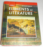 Holt Elements of Literature Second Course 2nd Student Textbook 2007 HC Grade 8