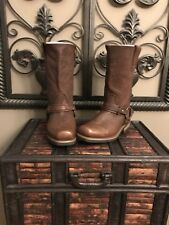 WOMEN X ELEMENT HARNESS MOTORCYCLE BROWN BOOTS 6.5 M WATER REPELLENT LEATHER