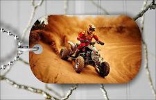 QUAD X ATV MOTOCROSS RACING #2 DOG TAG PENDANT NECKLACE FREE CHAIN -gme4Z