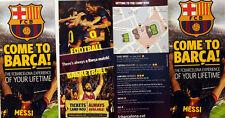 FC Barcellona 2013 CAMP NOU STADIO Tour / visita foglio Guide x 2