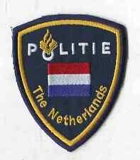 Polizei Niederlande:Armabzeichen mit National und The Netherlands