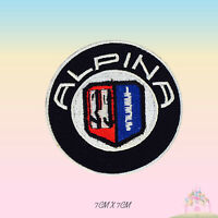 Alppina Car Brand Logo Embroidered Iron On Patch Sew On Badge Applique